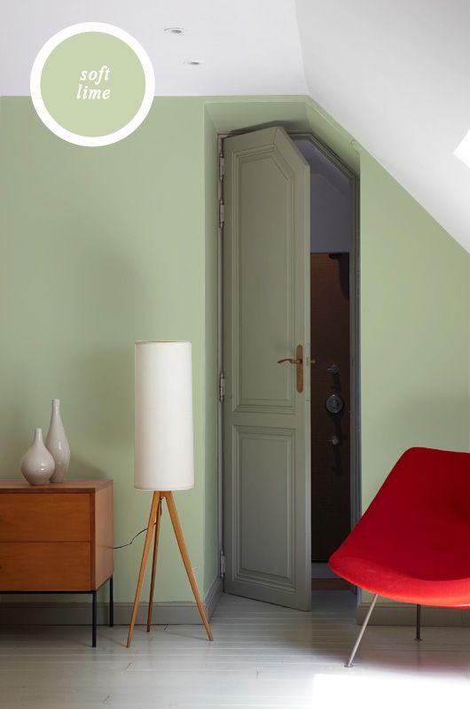 Een klassieke stijl in combinatie met een moderne sfeer breng je bij elkaar met onze kleuren. Hier gebruikten we Organic Grey en Soft Lime.