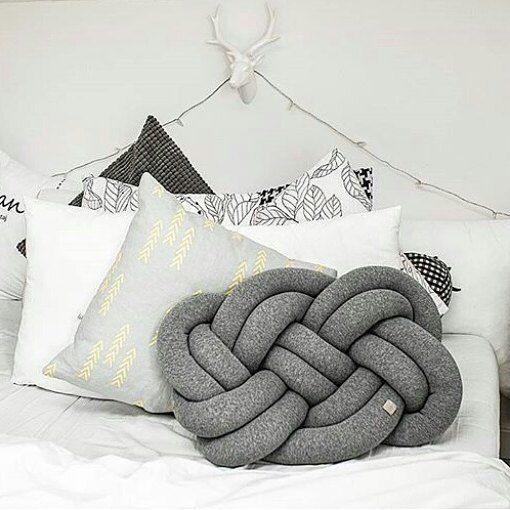 poduszka supeł węzeł knot pillow milutkowo.com.pl