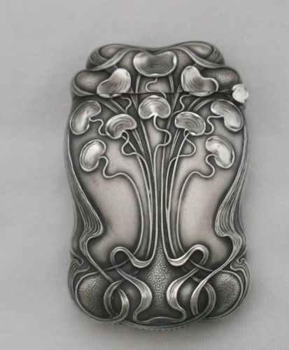 William B Kerr Company 1880 1927 Sterling Art Nouveau Match Safe Box | eBay