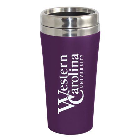 Western Carolina University Catamounts Double Walled Travel Tumbler, Purple