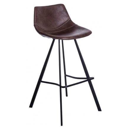 Barová židle Vin, hnědá