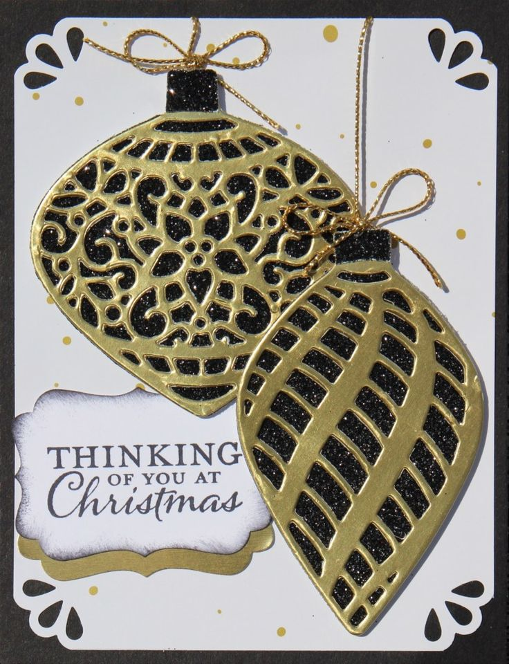 """This gorgeous card idea from the Stampin Up Delicate Ornament stamp set / bundle comes from a recent card swap I hosted. I shared this card, from Kay Capps, on my latest video of Holiday Catalog card ideas. It was a """"viewrs choice"""" in the poll I did from the video. Rank"""