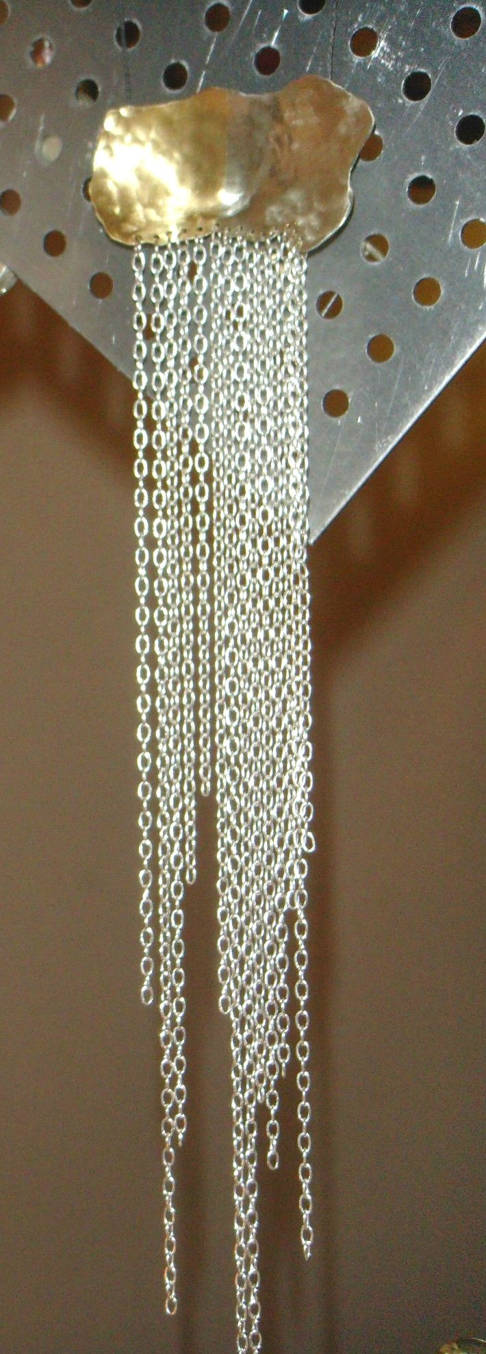 metallic pendant. by Efstathia.
