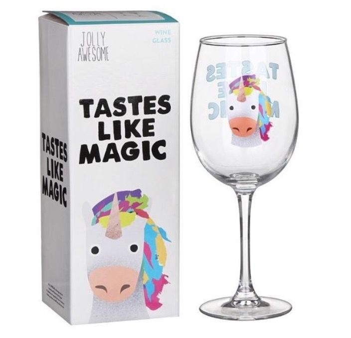 'Tastes Like Magic' Unicorn Wine Glass by Jolly Awesom