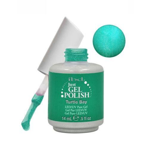 IBD Just Gel Soak Off Gel Green Nail Polish - TURTLE BAY