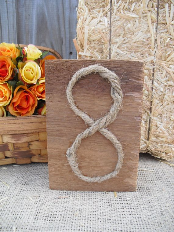 SET OF 6 Cedar and Rope Rustic Wood Table by dazzlingexpressions, $29.90