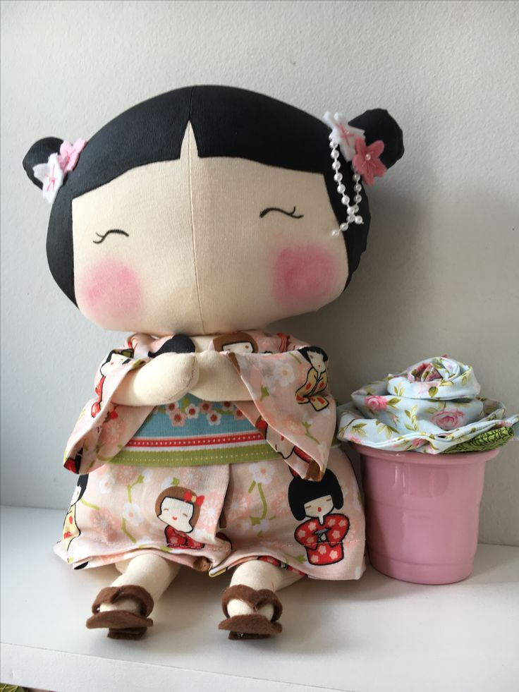 """another CUTE """"asian style"""" tilda sweetheart. indeed, she is a sweetheart!"""