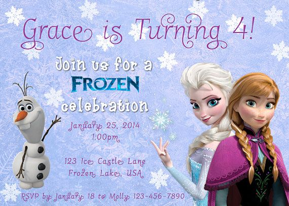 83 best Frozen Party images – Printable Disney Birthday Invitations