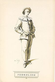 Pedrolino.jpg Description- stock character that is a male servent