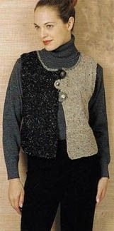 Donegal Tweed 2-Tone Vest - next project - Purple and teal? Lime and ...? Brick and ...?