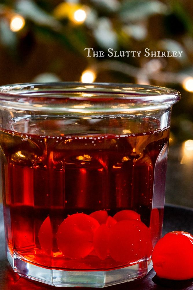 The Slutty Shirley with Cherry Southern Comfort, Amaretto, Ginger Ale, and Grenadine 3 title