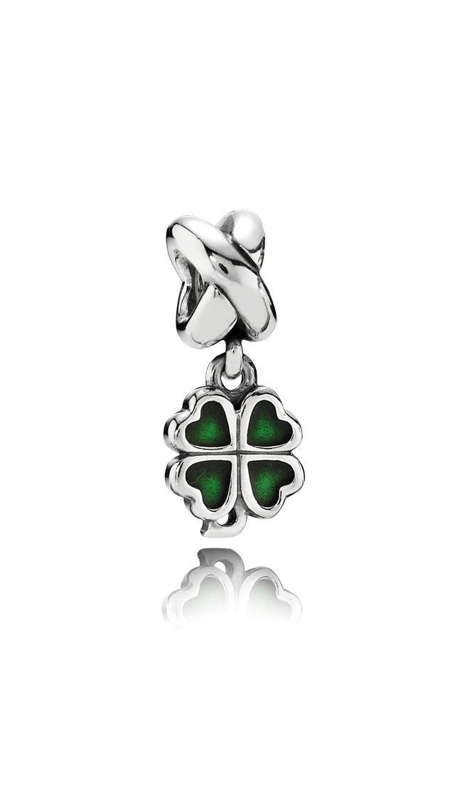 Symbols - Charms - Green Four-Leaf Clover