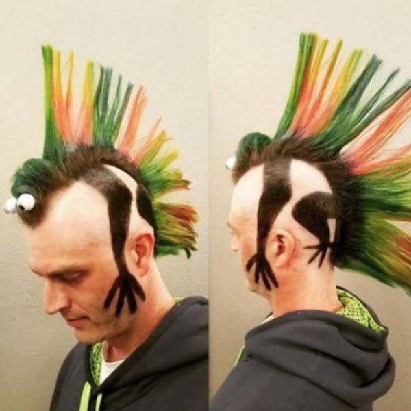 Coiffure Punk Hair Haircut Funny Haircuts For Men
