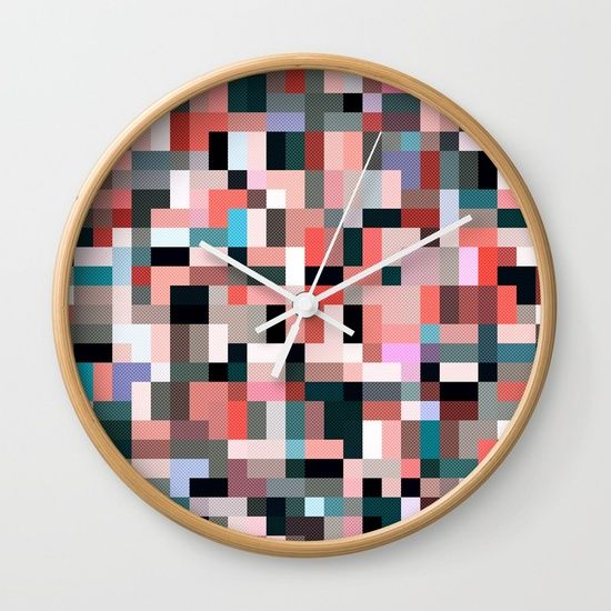 pixel chaos Wall Clock
