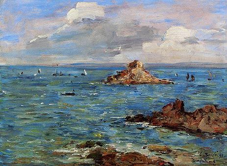 "Boudin - ""The Sea at Douarnenez"""