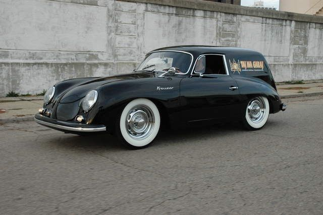 1958 Porsche 356 Carrera Sedan Delivery, photographed at the Taj Ma Garaj in Dayton Ohio.