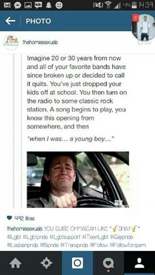 I would sit there cry and then go find a dark place in which I would sob some more and listen to it on repeat