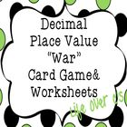 "Decimal Place Value  ""War"" Card Game Center  9 Unique sets of cards with varying skill levels: Place value to the tenths place Place value to the h..."