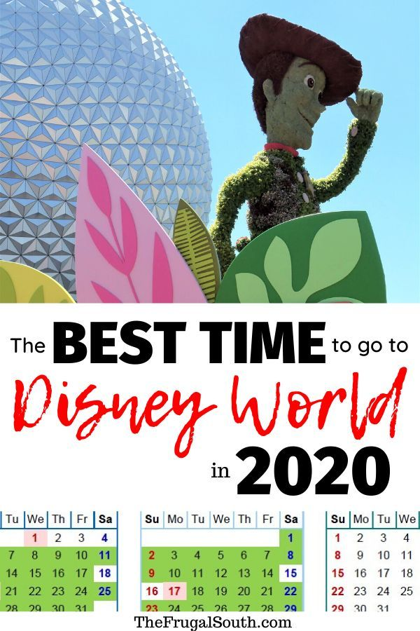 The Best Time To Go To Disney World In 2020 2021 Free Printable Calendar Disney World Vacation Planning Disney World Trip Disney Trip Planning