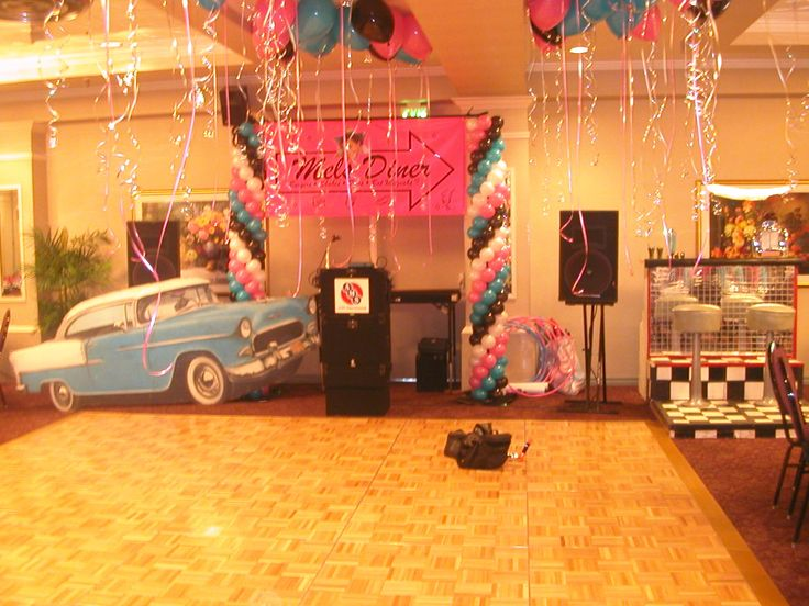 50#39;s theme balloon bat mitzvah