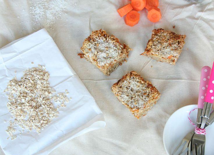 Havermoutkoeken van wortel met een heerlijke zoete smaak. Zo snack je nog verantwoord ook.