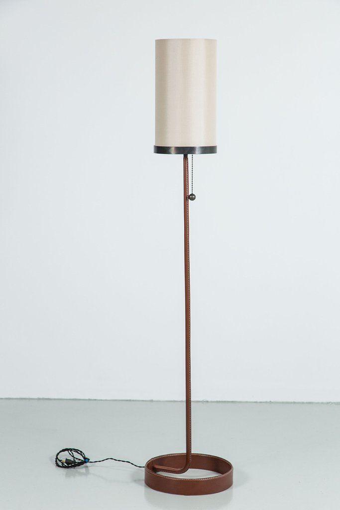 Wilshire Leather Floor Lamp Orange Furniture Los Angeles Floor