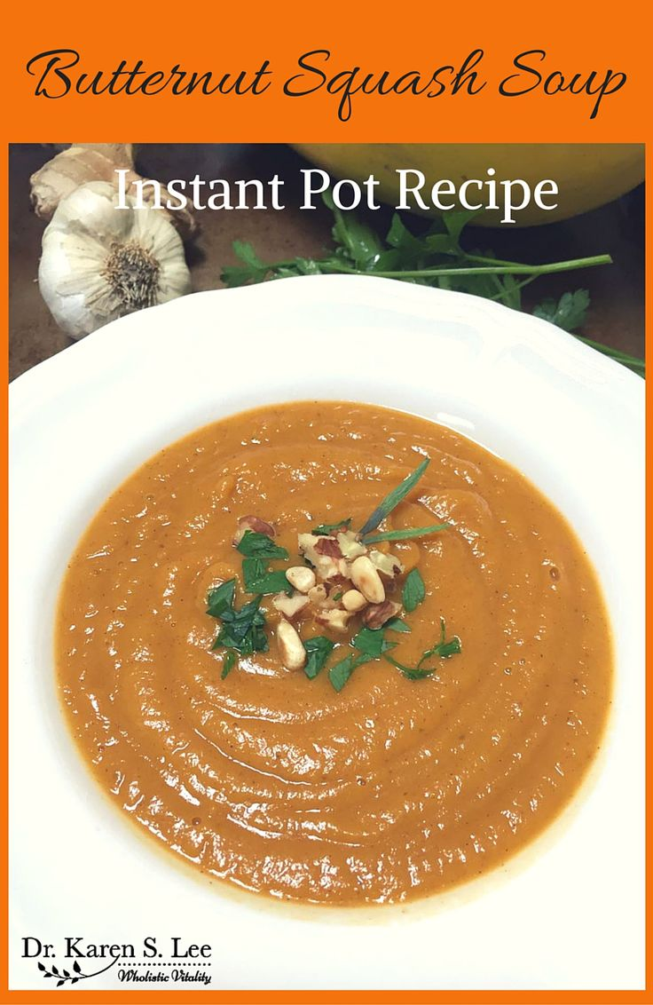 butternut squash soup instant pot recipe soup. Black Bedroom Furniture Sets. Home Design Ideas