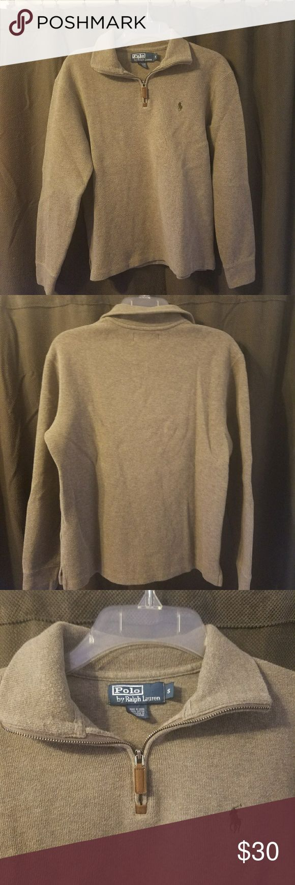 Polo ralph lauren mens sweater pullover size S Very soft and cozy, great condition. See pics for condition and details feel free to ask any questions Ralph Lauren Sweaters Zip Up