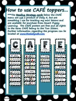 Free Daily 5 CAFE Posters - 1&2 Polka Dot image 2