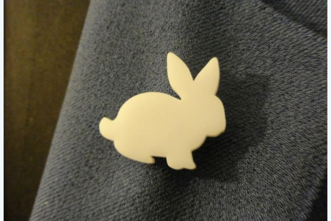 Bunny Brooch by Honey Song