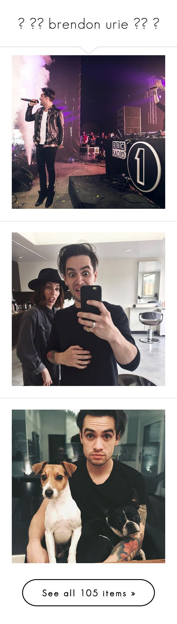 """☼ ▬▬ brendon urie ▬▬ ☼"" by itm-clippxr ❤ liked on Polyvore featuring panicatthedisco, Brendon, BrendonUrie, Urie, brendon urie, home, home decor, squirrel home decor and icon photos"
