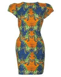 A corporate style dress in beautiful African fabric