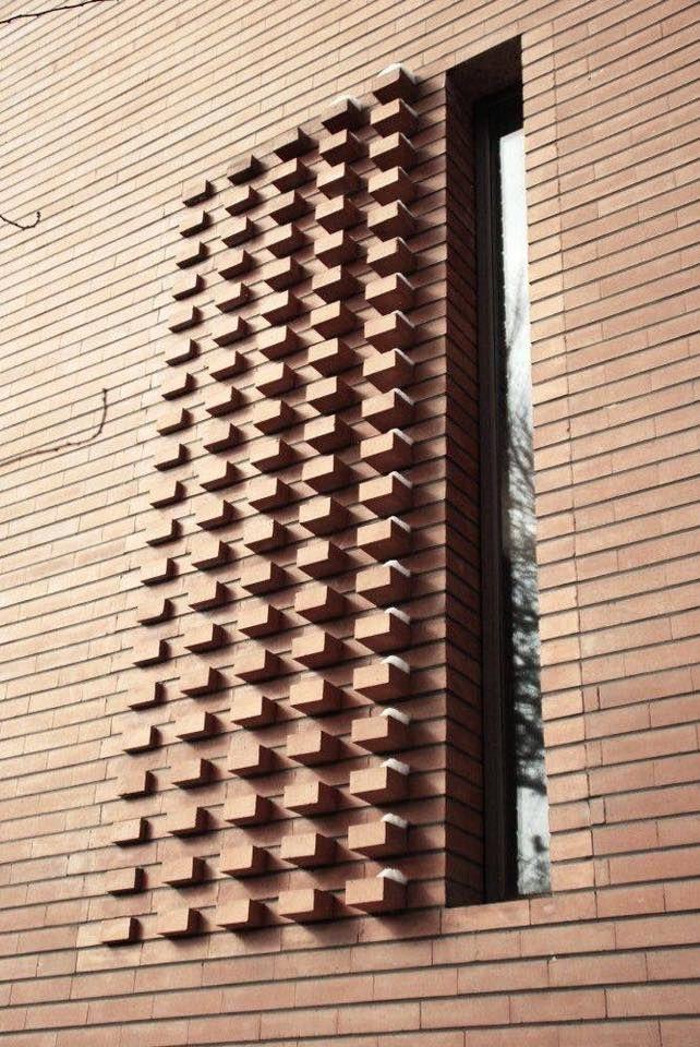 De 74 b sta brick wall design bilderna p pinterest for Brick elevation design