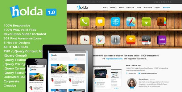 Holda - HTML5 Template - Creative Site Templates