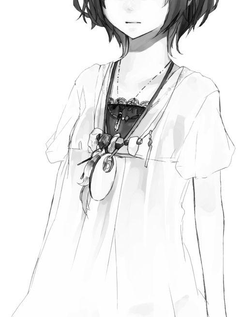 foto de Monochrome Black and white Boy Girl cool Sad Anime Manga Art M O N O C H R O M E