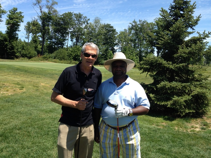 Anchors David Wittman and Harry Boomer took part in the Swing Fore Sight golf outing for Prevent Blindness Ohio.