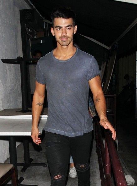 Joe Jonas enjoys a night out at Craig's in West Hollywood.
