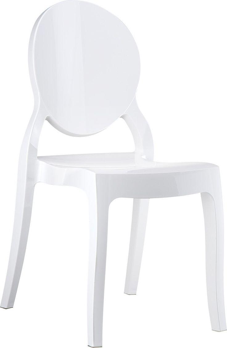 Chaise Design Elizabeth Blanc Opaque Ou Glossy Blanc Chaises D Appoint Chaise Chaise Design