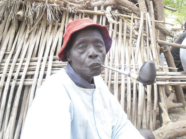 DINKA Man and His Pipe