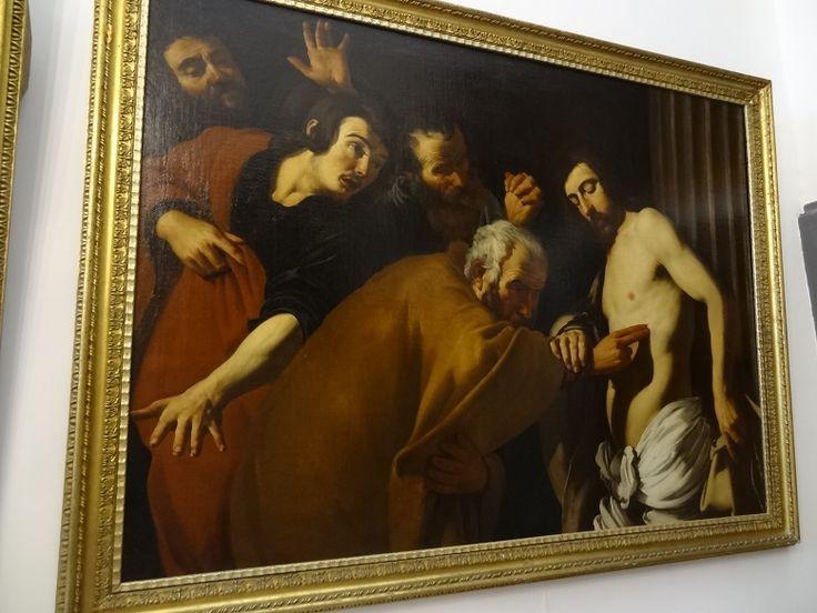 Incredulità di San Matteo. Van Baburen. Pio Monte della Misericordia.