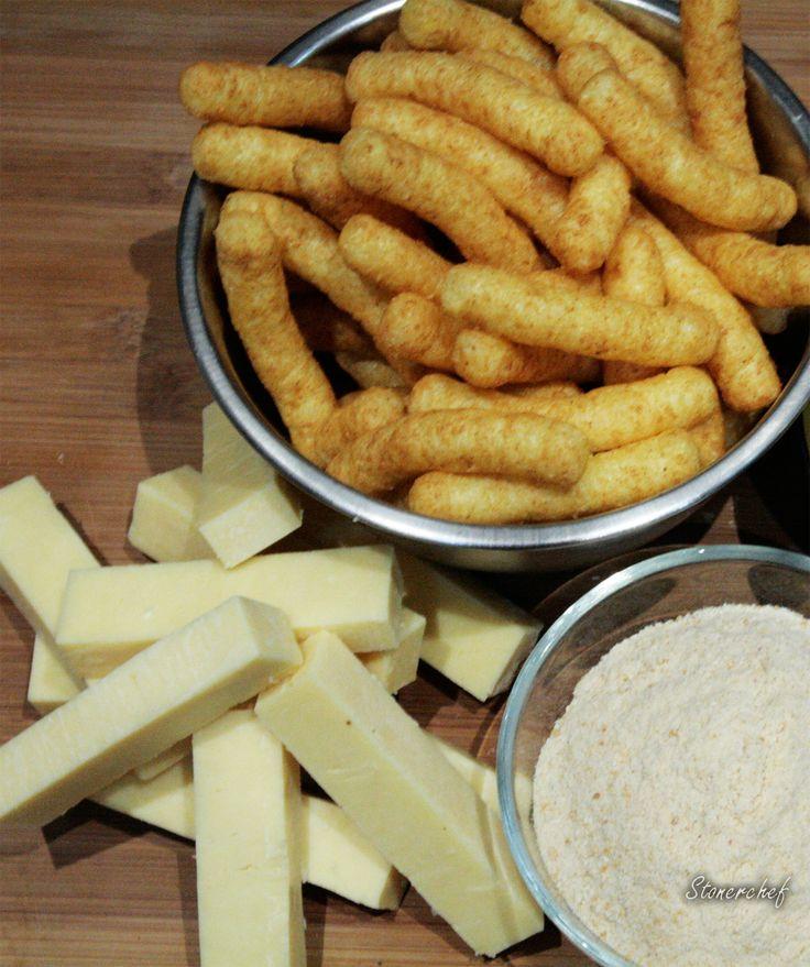 składniki na paluchy serowe w cheetosach orzechowych