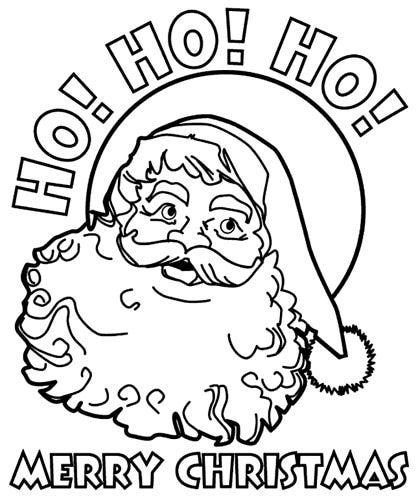 santa claus 2 santa coloring pagesfree - Coloring Pages Santa Claus 2