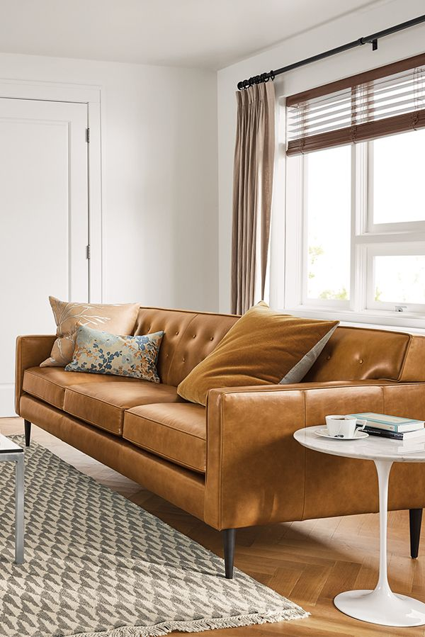Holmes Leather Sofas   Modern Sofas & Loveseats   Modern Living Room Furniture   Room & Board in ...
