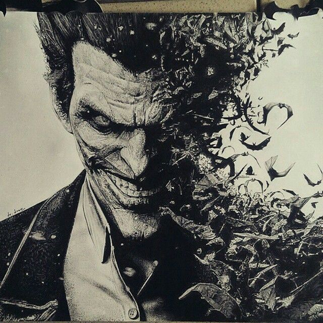The Joker! Pencil drawing by @dr.draww _____  @inksav  @inksav  _____