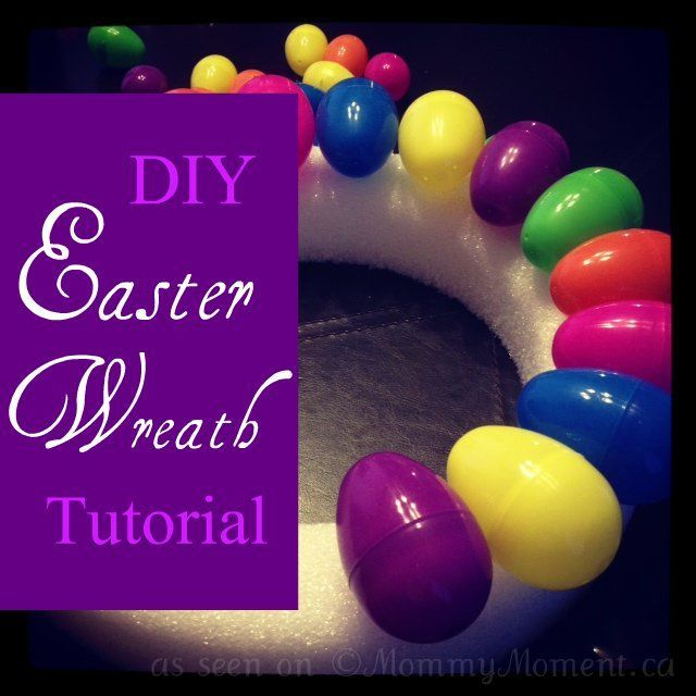 This week we're making an Easter wreath. When it gets closer to Easter I will add some nice ribbon and hang it on our front door.