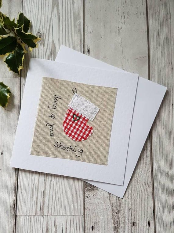 Original textile card greeting card Christmas card Xmas