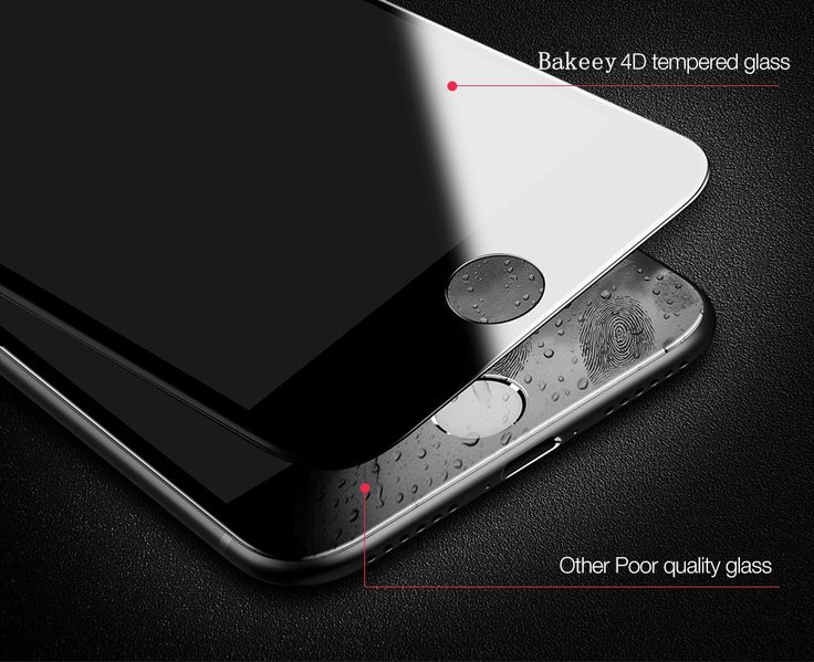 Bakeey 4D Curved Edge Cold Carving Tempered Glass Screen Protector For iPhone 7 Plus 5.5 Inch