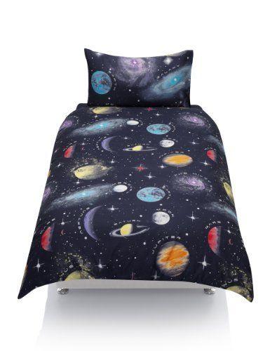 Space Glow in the Dark Bedding Set | M&S | Dark bedding ...