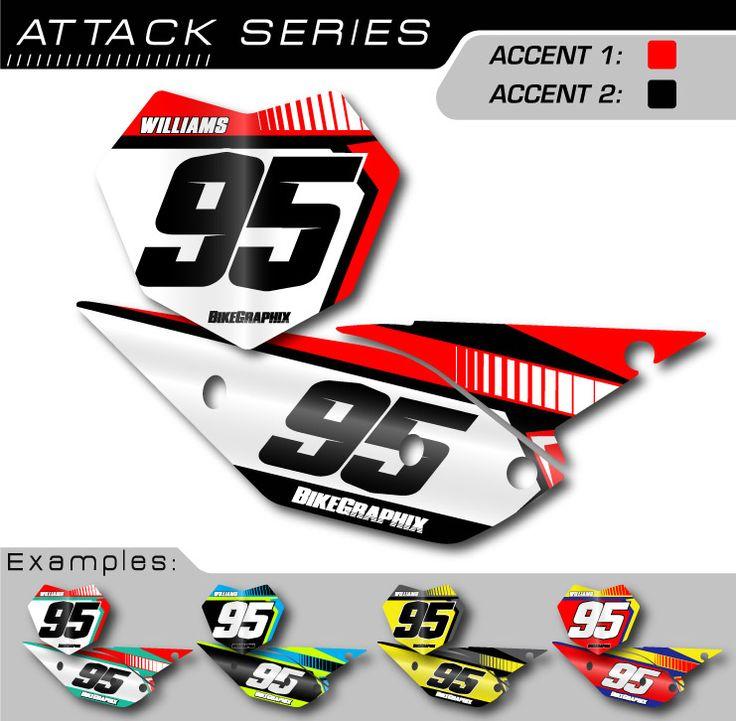 Go Kart Number Decals | Beta Attack Number Plate Graphics - BikeGraphix