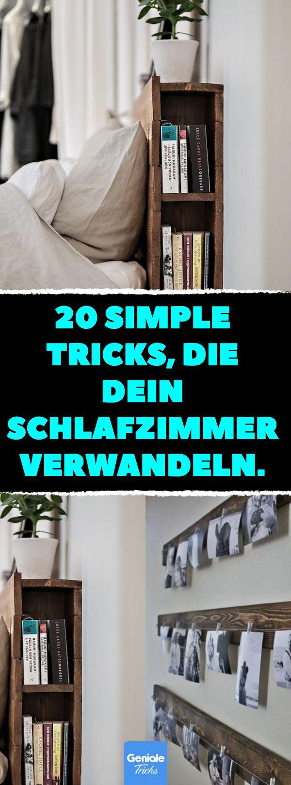 20 einfache Tricks, die Ihr Schlafzimmer verwandeln. #Home #Einrichtung #Schlaf …